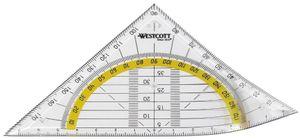 WESTCOTT Geodreieck Hypotenuse: 140 mm flexibel