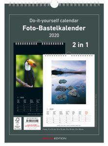 herlitz Kreativ-Wandkalender 2020 DIN A4 schwarz / weiß