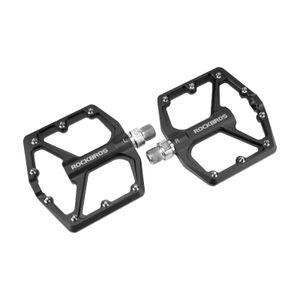 ROCKBROS Fahrrad Pedale Flach Plattform für MTB City e-Bike BMX 9/16 1 Paar Alu
