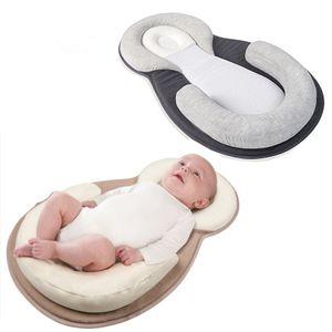 Dadanar  1 pcs Babynest Kuschelnest Babynestchen 100% Baumwolle Nestchen Reisebett mit Kissen für Babys Säuglinge Grau