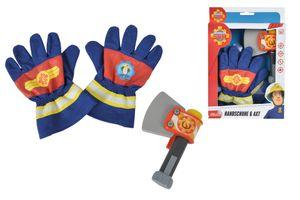 Simba Sam Feuerwehr Handschuhe und Axt; 109252105