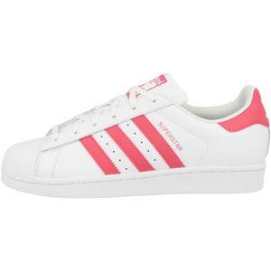 adidas Superstar J Damen Sneaker Weiß Schuhe, Größe:38