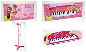 Icom 25450 Musikset 2teilig - Standmikrofon mit Lichteffekt und Keyboard mit 32 Tasten