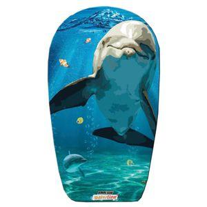 Kinder Schwimmbrett Motiv Delfin blau Bodyboard 84cm Schwimm Board Neu