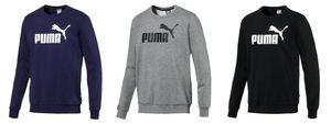 PUMA ESS Logo Crew Sweat TR big log Herren Sweater Schwarz, Größe:3XL
