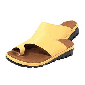 Frauen bequeme Plattform Sandale Schuhe Sommer Strand Damen Schuhe gelb 40 Sandalen wie beschrieben