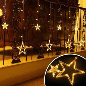 LED lichterketten lichternetze Lichterkette Weihnachten Sternenvorhang 12 Sterne Lichterschlauch Lichtschlauch