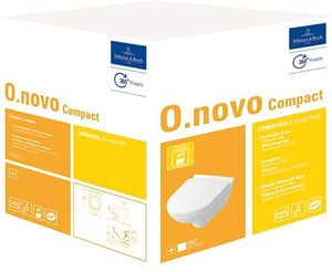 Villeroy & Boch Combi-Pack O.NOVO inkl. Wand-WC tief und WC-Sitz weiß
