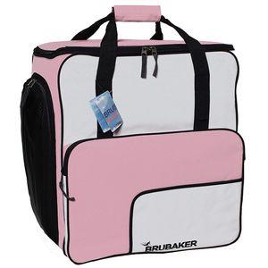 Brubaker Super Function Skischuhtasche mit Rucksackfunktion Rosa/Weiß