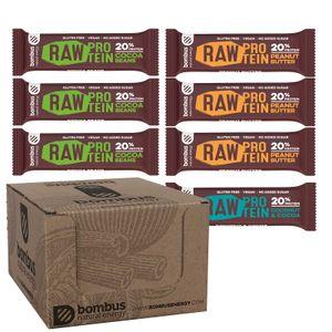 Bombus Probierpaket 7 Proteinriegel - Glutenfrei Vegan Ohne Zuckerzusatz