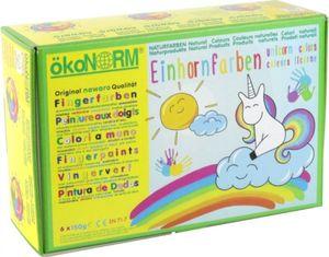 ÖkoNorm Fingerfarben nawaro, 6er Set Einhorn