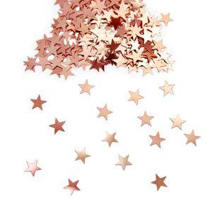 Oblique Unique Stern Konfetti Über 500 Stk Tischdeko Weihnachten Geburtstag Party - rosé gold