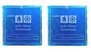2x Kälte Wärme Gelkompresse 15x15 cm Kompresse Kühlpads Kühlkompresse