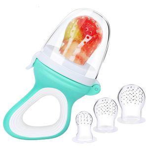 Fruchtsauger Baby & Kleinkind -Zahnbürste Gratis - Zahnungshilfe Baby Schnuller Beißring Obstsauger Gemüse Brei Beikost