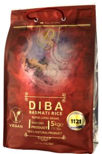 DIBA Extra Langkorn Basmati Reis - 1121 Original 5kg