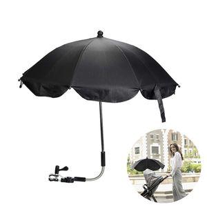 Universal Sonnenschirm für Kinderwagen, mit 360 ° biegbarer Schwanenhalshalterung, UV-Schutzclip geeignet für alle Arten von Kinderwagen und Kinderwagen  (schwarz)