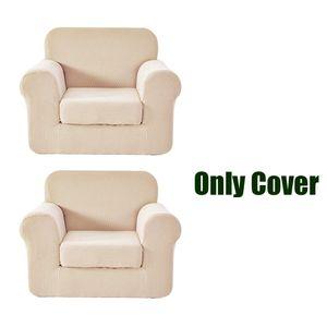 Sesselbezug Ohrensessel Relaxsessel Sesselhussen Sesselüberzug, Beige, 2er Pack