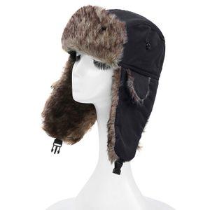 Unisex Maenner Frauen Russische Hut Trapper Bomber Warme Trooper Ohrenklappen Winter Ski Hut Cap Headwear