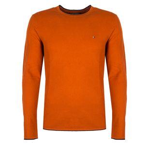 "Tommy Hilfiger Pullover ""Light Gauge"" -  MW0MW05091 | Textured Light Gauge Cneck - Orange-  Größe: XXL(EU)"