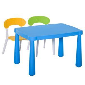 HOMCOM 3-tlg. Kindersitzgruppe mit Kindertisch 2 Stühle für 2-8 Jahre Kindermöbel PP-Kunststoff Bunt 76,5 x 54,5 x 49,5 cm