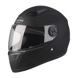 Motorradhelm Schutz Helm Klapphelm Rollerhelm Sturzhelm Winddicht Schwarz mit Halstuch