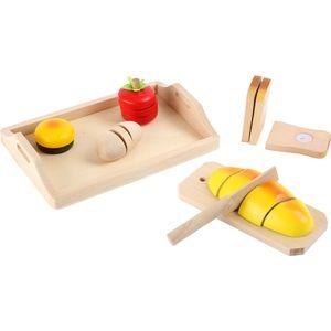 Small Foot 7120 Schneide-Brot aus Holz, mit Brett und Messer, mehrfarbig (1 Set)