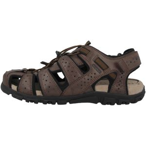 GEOX Herren klassische Sandale Braun Schuhe, Größe:47