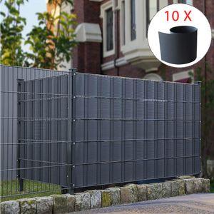 10X HART PVC Sichtschutz Anthrazit Sichtschutzstreifen Doppelstabmattenzaun