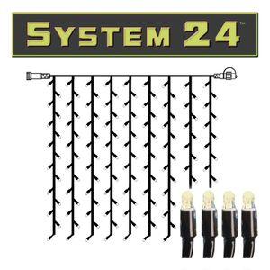 System 24   LED-Lichtvorhang   koppelbar   exkl. Trafo   2.00m x 1.50m   196x Warmweiß