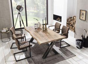 SIT Möbel Esstisch aus Mango, Gestell im Used-Look|B160 x T90 x H76 cm|15220-41|Serie TISCHE & BÄNKE