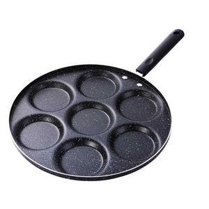 Aluminium 7-Tassen-Eierpfanne Antihaft-schwedischer Pfannkuchen, Plett, Crêpe, Multi-Eierpfanne