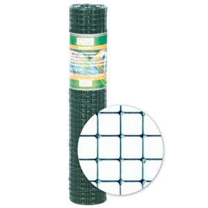Drahtgitter grün 12,7x0,90x500mm, 5 m Rolle 4eck Käfigdraht Volierendraht