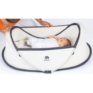 DERYAN Pop-up-Reisebett mit Moskitonetz Infant Baby Creme