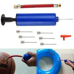 10tlg Ballpumpe Luft Pumpe Ballpumpennadel Metallnadel Schlauch für Luftballons Bälle Fußball Basketball Luftpumpe Schwimmring