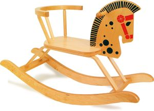 Legler 9402 Schaukelpferd Holz mit Rückenlehne 80x47 cm