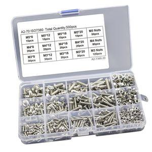500 Stück / Karton Edelstahl Sechskantschrauben Schrauben Muttern Bauzubehör