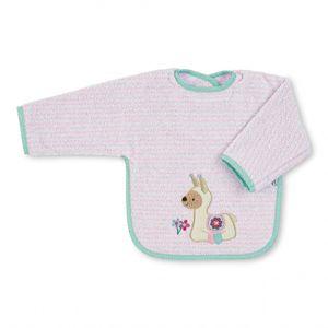 Sterntaler Lotte, Sleeved bib, Pink, Baumwolle, Weiblich, Child 1-2 years, 9 Monat( e)