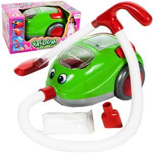 MalPlay Batteriebetriebener Staubsauger mit Geräusche   Grün   Haushaltsspielzeug   Rollenspielzeug   für Kinder Mädchen ab 3 Jahren