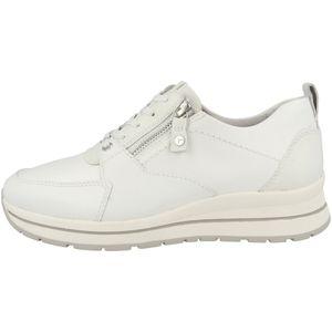 Tamaris Damen Sneaker Leder Schnürschuhe 1-23740-26, Größe:37 EU, Farbe:Weiß