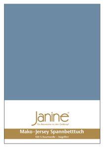 Janine Mako Jersey Spannbetttuch Bettlaken 140-160x200 cm5007 62 denimblau