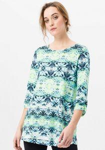 Green Baumwolle Damen 3/4-Arm-Shirt Longshirt
