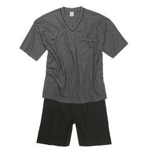 Adamo Shorty dunkelgrau-schwarz gestreift Übergröße, Größe:10XL