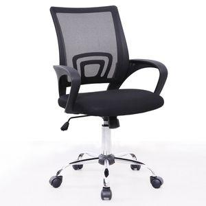 SVITA CYDNEY Schreibtischstuhl Kinder Jugendliche Drehstuhl Stoff Stuhl Bürostuhl schwarz