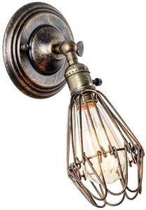 (Keine Lichtquelle)Wandleuchte Vintage Verstellbar Metall Wandlampe Antik Wandlampe Rustikal für Landhaus Schlafzimmer Wohnzimmer Esstisch [Energieklasse A+] (Bronze-Schalter)