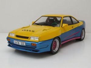 "Opel Manta B Mattig ""Manta Manta"" 1991 gelb blau Modellauto 1:18 MCG"