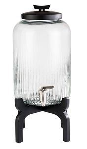 APS Getränkespender -ASIA-  /// Ø 24,5 cm, H: 45,5 cm, 7 Liter /// Behälter aus Glas  /// Zapfhahn aus Edelstahl /// 10403