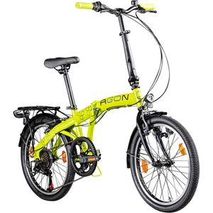 Agon Parklane 20 Zoll Klapprad Fahrrad Faltrad Klappfahrrad 20' StVZO 6 Gänge Urban Bike, Farbe:grün, Rahmengröße:33 cm