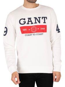 GANT Herren Nautisches Sweatshirt, Weiß XL