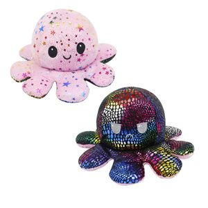 (Stil 14) Kuscheltiere, Niedliche Oktopus-Plüsch-Spielzeug, Doppelseitig Flip Oktopus-Stofftierpuppe, Kreatives Spielzeug, Geschenke für Kinder