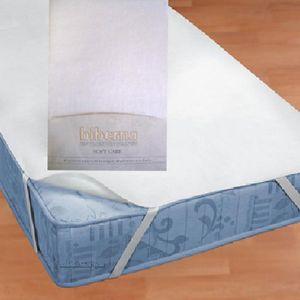 Biberna 809720-001 Wasserundurchlässige Molton Matratzenauflage Weiß, Grösse:180 x 200 cm